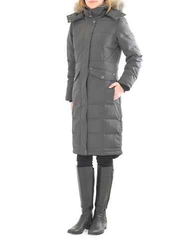 Company Of Adventurers Fur Hood Down Parka-DARK GREY-Small