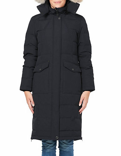 Company Of Adventurers Fur Hood Down Parka-BLACK-Small