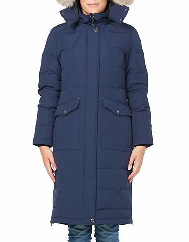 Company Of Adventurers Fur Hood Down Parka-DARK NAVY-Small