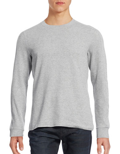 Vince Textured Crew Neck Sweater-GREY-X-Large 88596135_GREY_X-Large