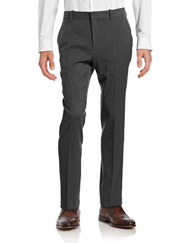 Vince Tapered Wool-Blend Pants-DARK GREY-32 88679825_DARK GREY_32