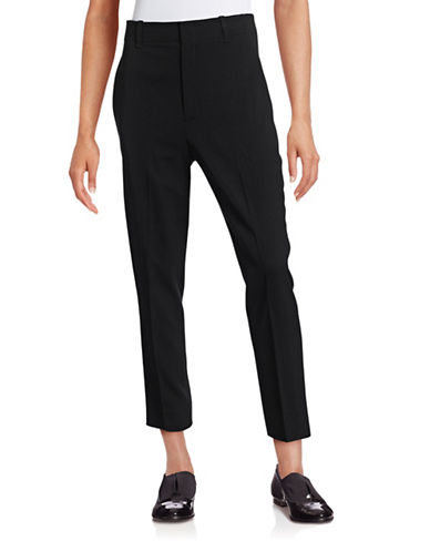 Vince Carrot Shape Pants-BLACK-10