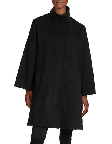 Vince Wool Duffle Coat-BLACK-X-Small 88641645_BLACK_X-Small