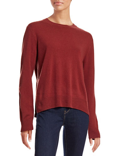 Vince Hi-Lo Cashmere Sweater-RED-Small 88678623_RED_Small