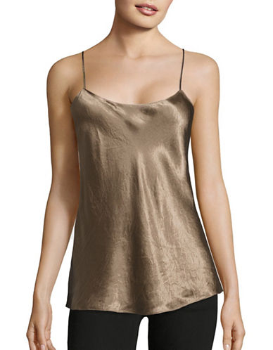Vince Double Strap Camisole-BROWN-Medium