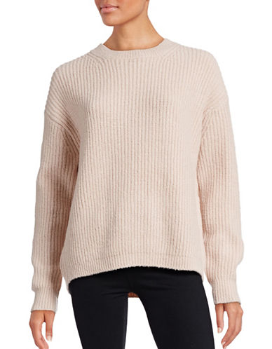 Vince Wool-Silk-Cashmere Sweater-BEIGE-Large