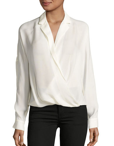 9d9a9cab342151 ... Size UPC 822508737017 product image for Vince Silk Wrap Blouse-WHITE-12