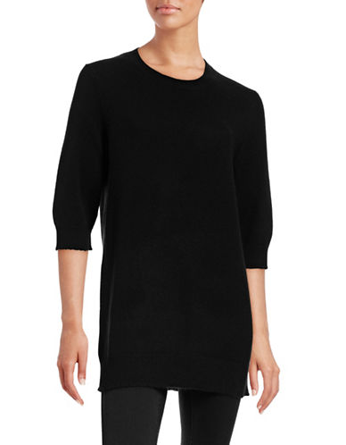 Vince Long Cashmere Sweater-BLACK-X-Small 88783377_BLACK_X-Small