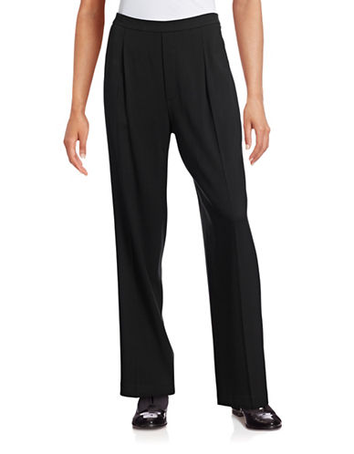 Vince Pleated Pull-On Pants-BLACK-Medium