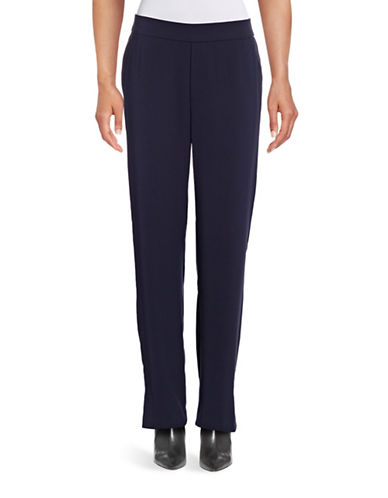 Vince Lounge-Style Ponte Pants-BLUE-Medium 88783430_BLUE_Medium