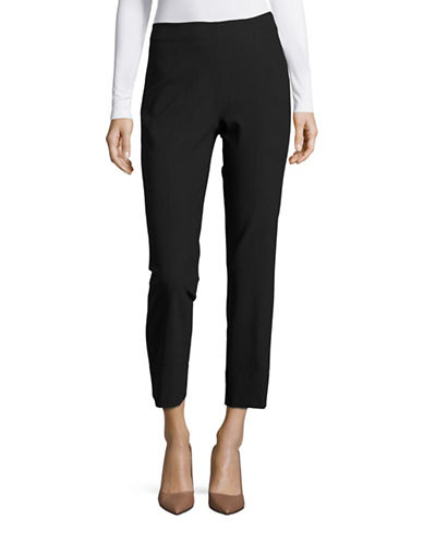 Vince Stitch-Front Cropped Pants-BLACK-X-Small 88641551_BLACK_X-Small