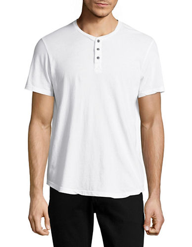 Velvet By Graham And Spencer Classic Whisper Henley-WHITE-Small