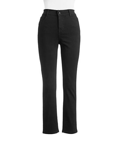 Style And Co. Petite Tummy Control Slim Jeans-BLACK-Petite 6