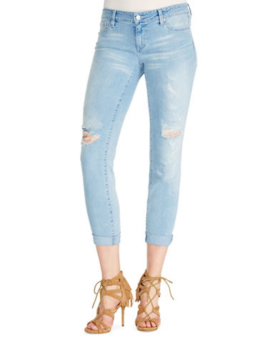 Jessica Simpson Forever Rolled Skinny Jeans-BLUE-31
