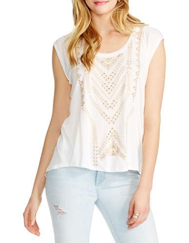 Jessica Simpson Lavi Split-Back Top-WHITE-Medium