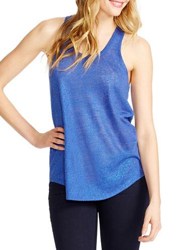 Jessica Simpson Glitter Knit Tank-BLUE-Medium 88420994_BLUE_Medium