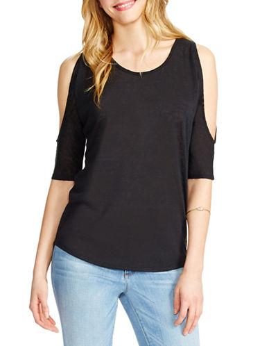 Jessica Simpson Molly Cold Shoulder Top-BLACK-X-Small 88477653_BLACK_X-Small