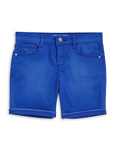 Jessica Simpson Cherish Twill Bermuda Shorts-BLUE-14