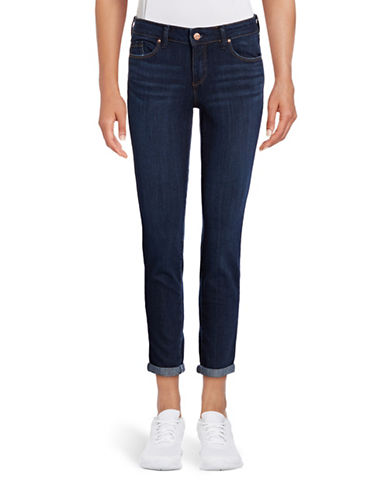 Jessica Simpson Forever Rolled Skinny Jeans-BLUE-28