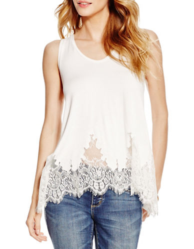 Jessica Simpson Bryanna Lace Tank-WHITE-Large 88543116_WHITE_Large