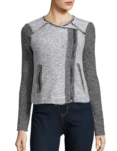 Jessica Simpson Knit Moto Jacket-GREY-Small 88662058_GREY_Small