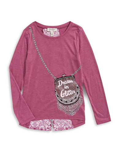 Jessica Simpson Renesmee Glitter Purse T-Shirt-RED-X-Large 88613169_RED_X-Large