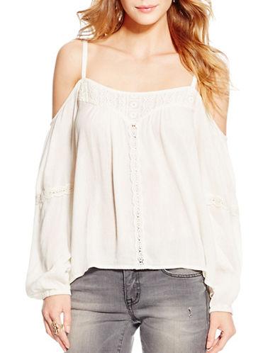Jessica Simpson Rose Open Shoulder Top-WHITE-X-Small 88580456_WHITE_X-Small