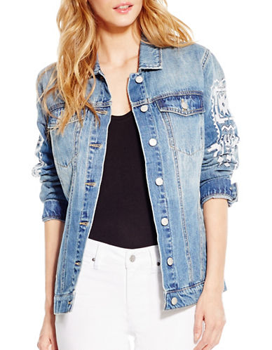Jessica Simpson Peri Denim Jacket-BLUE-X-Large 88752525_BLUE_X-Large