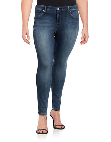 Jessica Simpson Plus Kiss Me Super Skinny Jeans-BLUE-24W