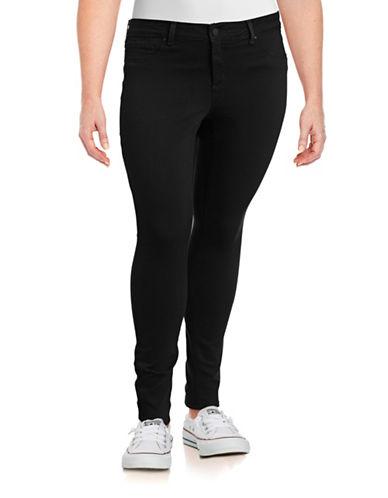 Jessica Simpson Plus Kiss Me Super Skinny Jeans-BLACK-18W