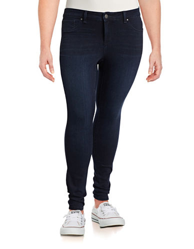 Jessica Simpson Plus Kiss Me Super Skinny Jeans-BLUE-14W