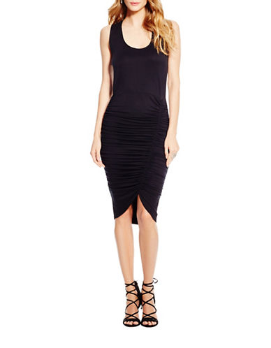 Jessica Simpson Binx Ruched Dress-BLACK-Small