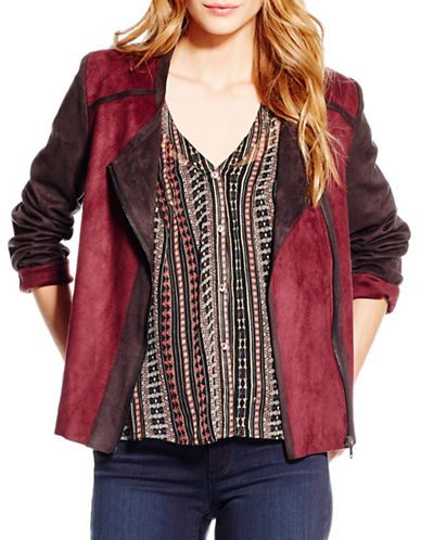 Jessica Simpson Elora Moto Jacket-RED-X-Small 88662053_RED_X-Small