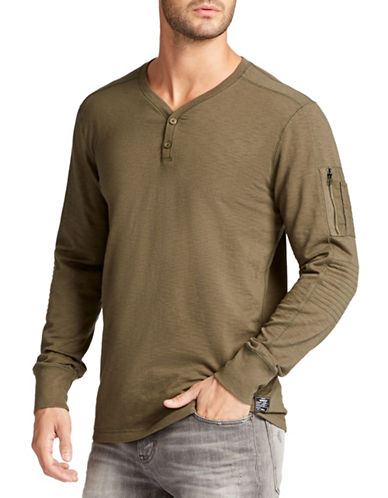 William Rast Maverick Henley Tee-GREEN-Large 88673219_GREEN_Large