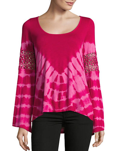 Jessica Simpson Laurine Tie Dye Top-PINK-Large 88937871_PINK_Large