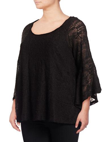Jessica Simpson Plus Wool-Blend Split Back Sweater-BLACK-1X