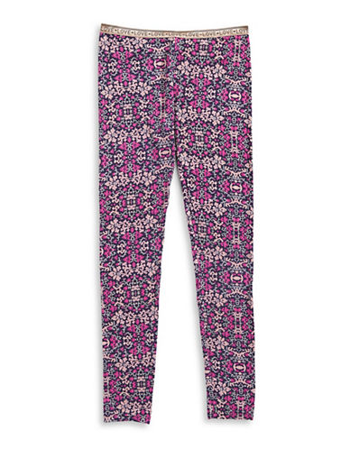 Jessica Simpson Glimmer and Print Leggings-RED-Large 88901498_RED_Large