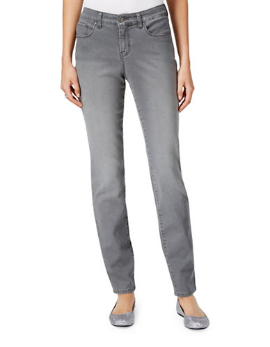 Style And Co. Tummy-Control Skinny Jeans-GREY-4