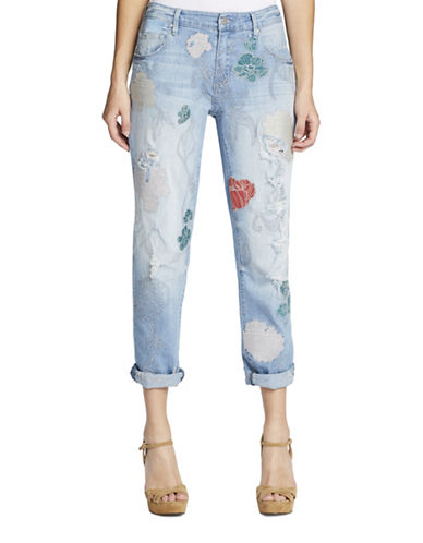 Jessica Simpson Mika Embroidered Best Friend Jeans-BLUE-25