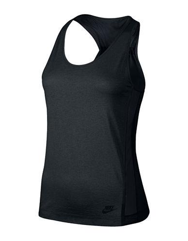 Nike Bonded Racerback Tank Top-BLACK-Small 88339006_BLACK_Small