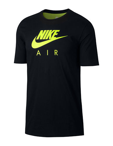 Nike Air Max 95 Drop-Tail Cotton Tee-BLACK-X-Large 89407347_BLACK_X-Large