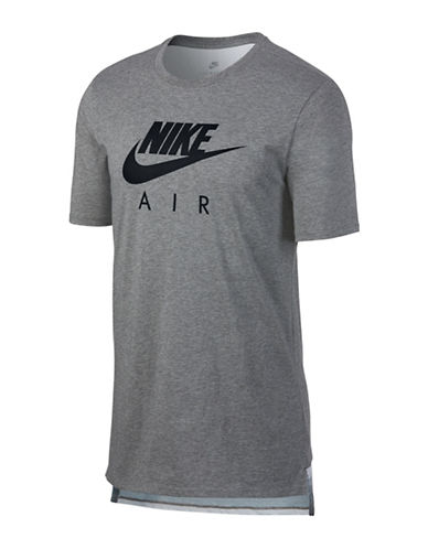 Nike Air Max 95 Drop-Tail Cotton Tee-GREY-Medium