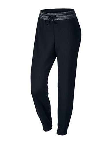 Nike Tapered Fleece Jogging Pants-BLACK-Large 88618621_BLACK_Large