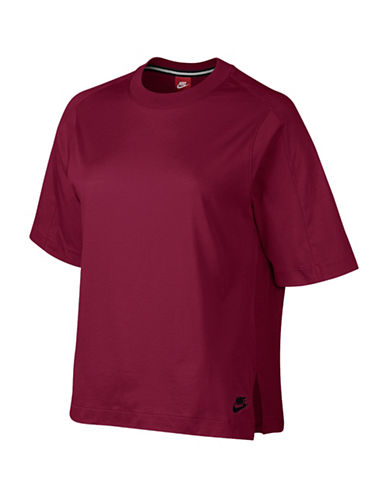Nike NSW Jersey Front Training T-Shirt-RED-Medium 88719235_RED_Medium