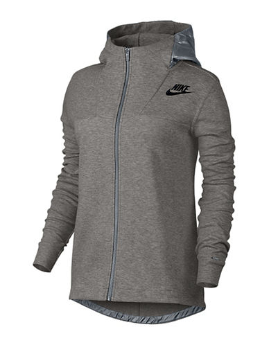 Nike Cape Fleece Hoodie-GREY-Large 88547924_GREY_Large
