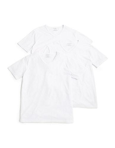 Emporio Armani Underwear 3 Pack V Neck T Shirts-WHITE-X-Large