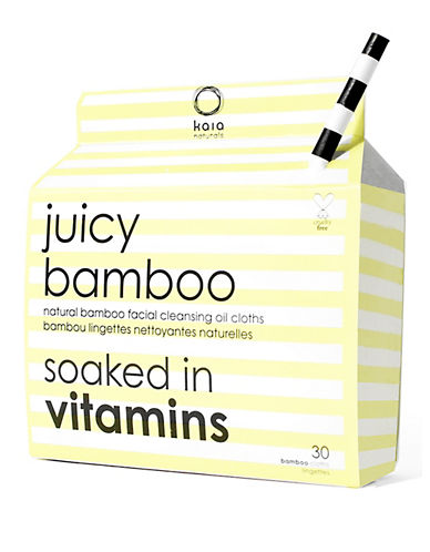 Juicy Bamboo Box of 30 Natural Facial Cleansing Cloths-NO COLOUR-One Size