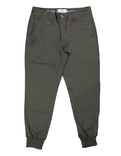 Publish Brand Twill Jogger Pants-OLIVE-38