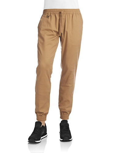 Publish Brand Structured Jogger Pants-KHAKI-34