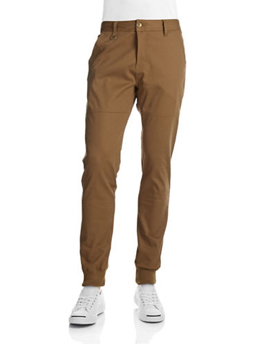 Publish Brand Twill Jogger Pants-DARK TAN-30